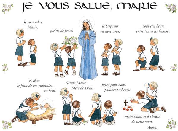 Souvent Poster Je vous salue Marie - Pierre TEQUI - Editeur Religieux HP71