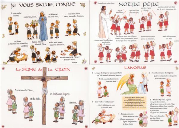 Souvent Posters Notre Père, Je vous salue Marie, Angélus et Signe de Croix  HP71