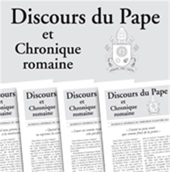 Abonnement Discours du Pape 1 an - UE, DOM-TOM, Armées