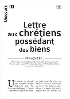 Discours n°4 - Lettre aux chrétiens possédant des biens