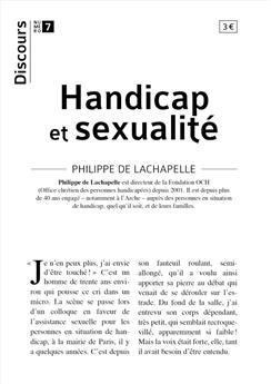 Discours n°7 - Handicap et sexualité