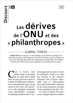 Discours n°8 - Les dérives de l'ONU et des « philanthropes »