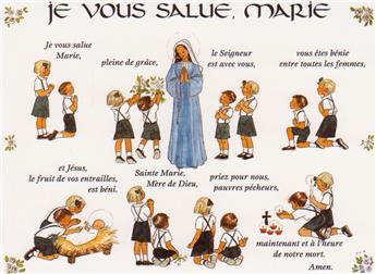 Carte Je vous salue Marie (à l'unité)