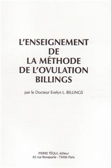 L'enseignement de la méthode de l'ovulation Billings