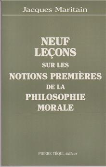 Neuf leçons sur les notions premières de la philosophie morale