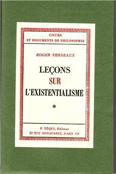 Leçons sur l'existentialisme