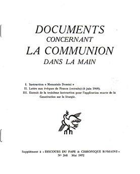 Documents concernant la communion dans la main