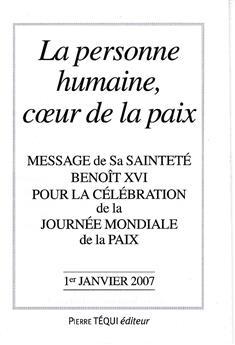 Message journée de la Paix 2007