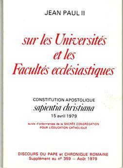 Sur les Universités et les Facultés ecclésiastiques