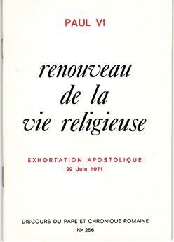 Renouveau de la vie religieuse