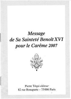Message Carême 2007