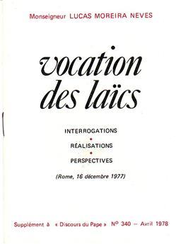 Vocation des laïcs - 16 décembre 1977