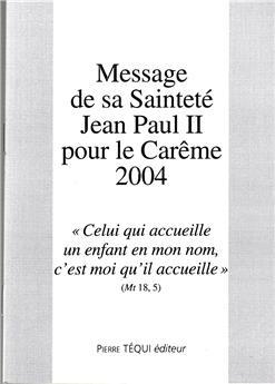 Message Carême 2004