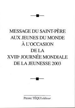 MESSAGE JMJ 2003