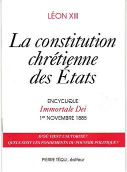 La constitution chrétienne des États