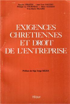 Exigences chrétiennes et droit de l'entreprise