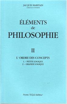 Éléments de Philosophie - Tome II