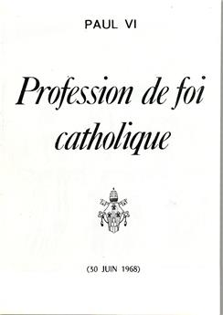 Profession de foi catholique