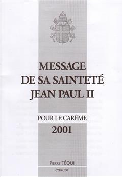 Message Carême 2001