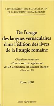 De l'usage des langues vernaculaires dans l'édition des livres de la liturgie romaine