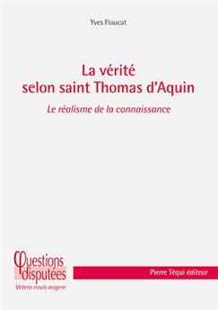 La vérité selon saint Thomas d'Aquin