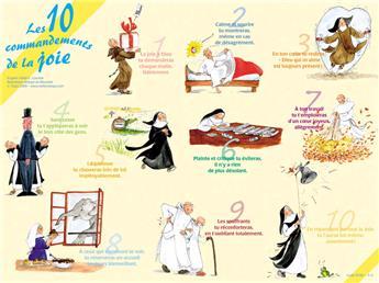 Poster Les 10 commandements de la joie