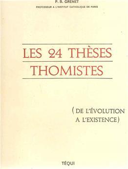 Les 24 thèses thomistes