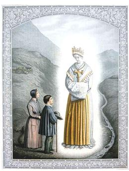 Carte apparitions Notre-Dame de La Salette