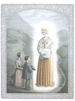 Dépliant apparitions de la Sainte Vierge à La Salette