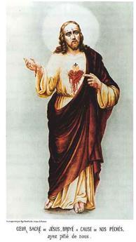 Cœur de Jésus broyé - image couleur