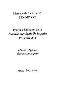 Message journée de la Paix 2011