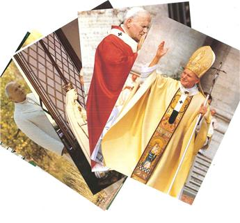 Cartes postales Jean-Paul II (lot de 6)