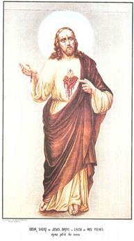 Poster Cœur Sacré de Jésus broyé moyen format