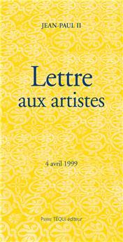 Lettre aux artistes - 4 avril 1999