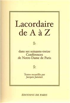 Lacordaire de A à Z