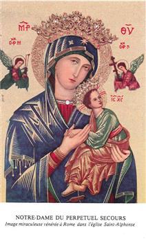 Prière à Notre Dame du Perpetuel secours / image