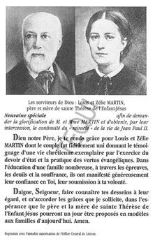 Neuvaine serviteurs de Dieu Louis et Zélie Martin