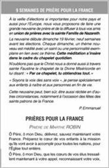 Neuf semaines de prières pour la France (lot de 50)