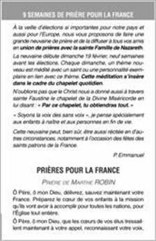 Neuf semaines de prières pour la France