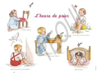 Poster L'heure de prier (souple)