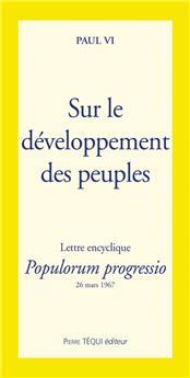 Sur le développement des peuples