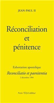 Réconciliation et pénitence