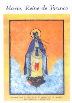 Prière à Marie, reine de France - carte