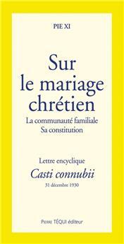 Sur le mariage chrétien