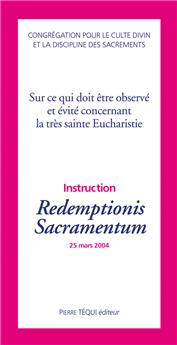 Instruction Redemptionis Sacramentum