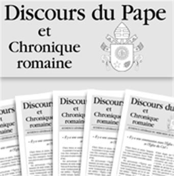 Abonnement Discours du Pape 1 an - Hors UE