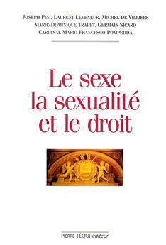 Le sexe, la sexualité et le droit
