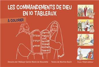 Les Commandements de Dieu en 10 tableaux à colorier (PROMO21)