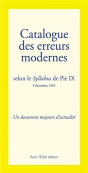 Catalogue des erreurs modernes