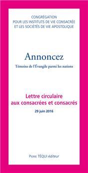 Annoncez - 4e lettre circulaire aux consacrés et consacrées (PROMO21)